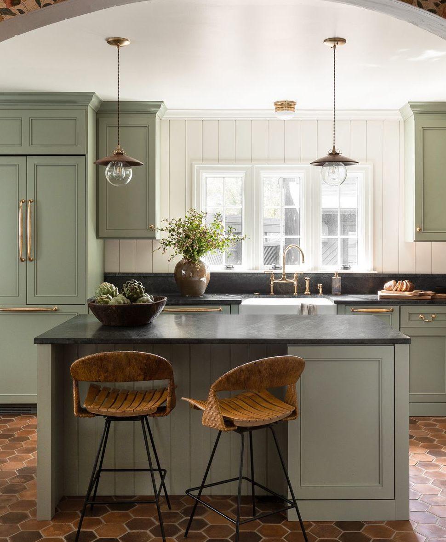 ruang dapur hijau