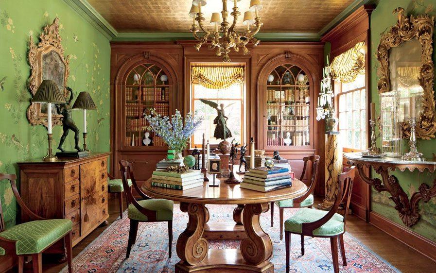 ruangan nuansa hijau