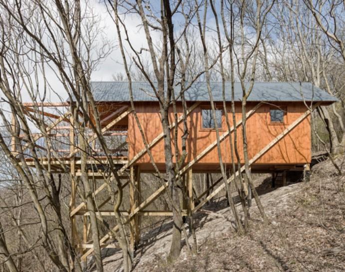 cliffside house