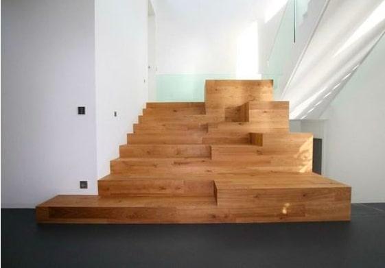 tangga kayu balok