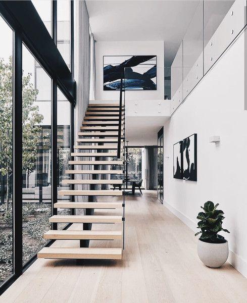 tangga kayu model lurus
