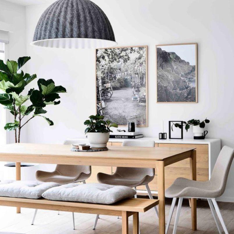 ruang makan tema modern scandinavian