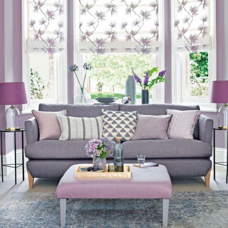 Perpaduan ungu lavender, lilac, dan abu-abu sangat anggun