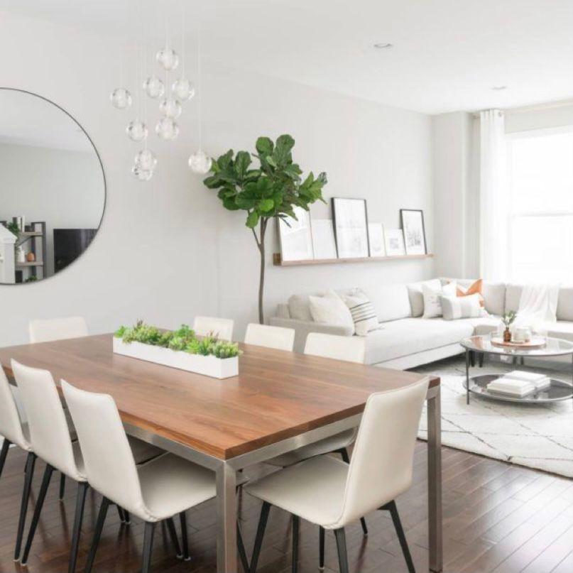 Ruang makan menyatu dengan ruang keluarga