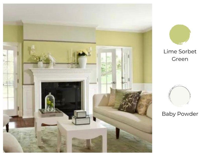lime sorbet green dan baby powder