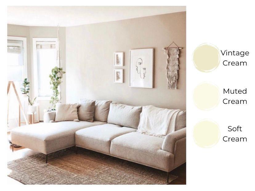 Ruang tamu cream aesthetic