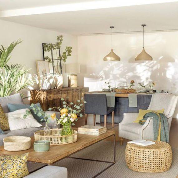 desain ruang keluarga dan ruang makan super cozy dan down to earth