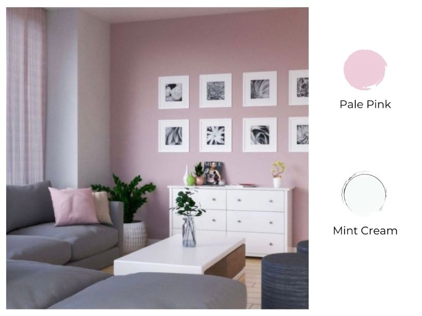 pale pink dan mint cream