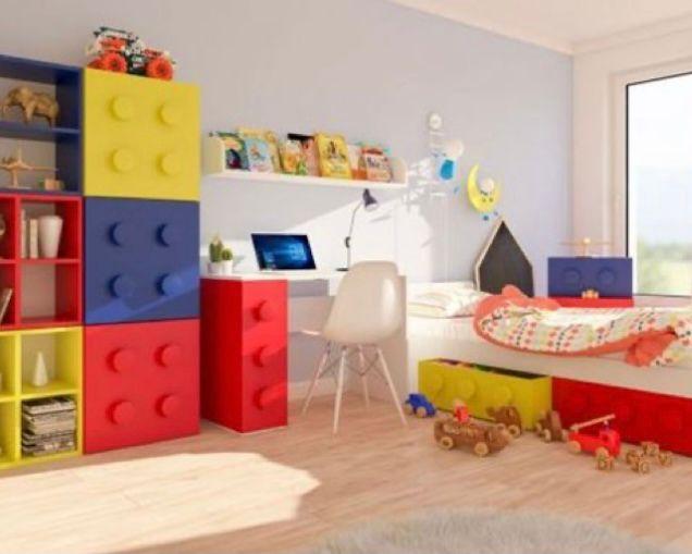 kamar anak tema lego