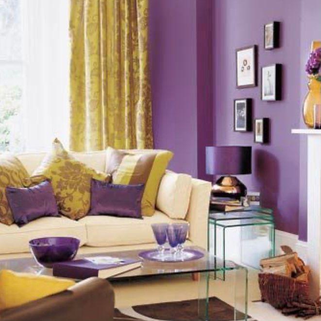 Desain anggun dan hangat ala warna ungu dan gold