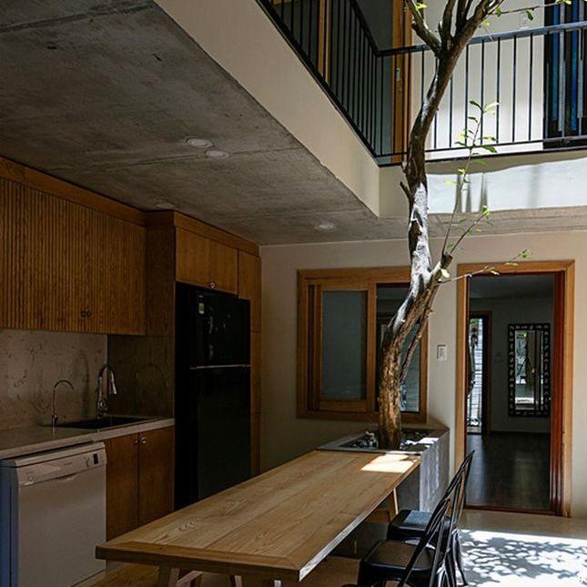 dapur dan ruang makan konsep semi outdoor