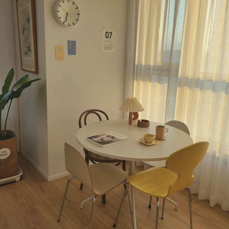Ruang makan minimalis ala korea