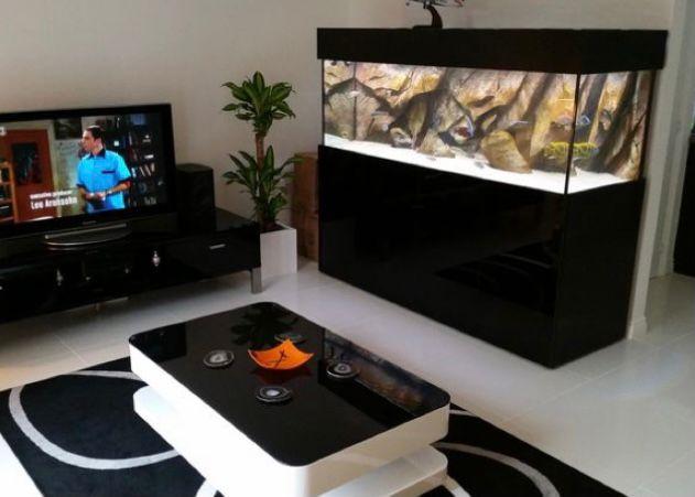 aquarium di ruang tamu minimalis