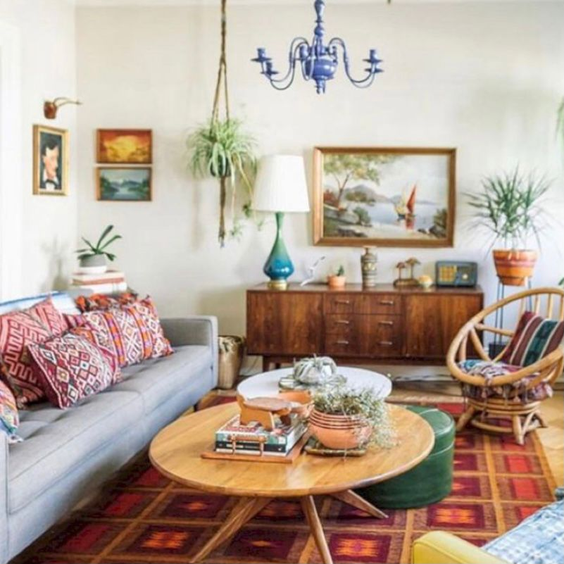 ruang tamu vintage sederhana tapi nyaman