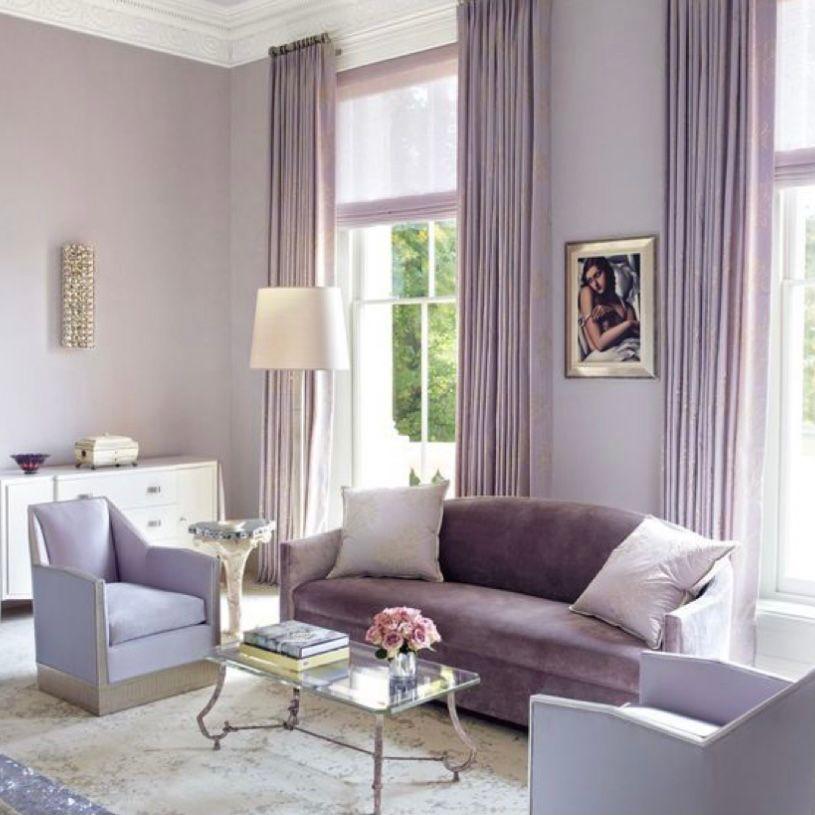 Desain modern dengan warna ungu muda