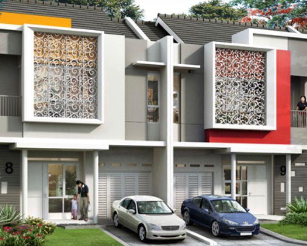 Rumah tingkat minimalis dengan Ukiran unik