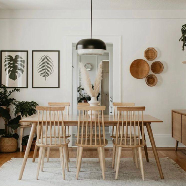 ruang makan minimalis Tema bohemian yang cantik