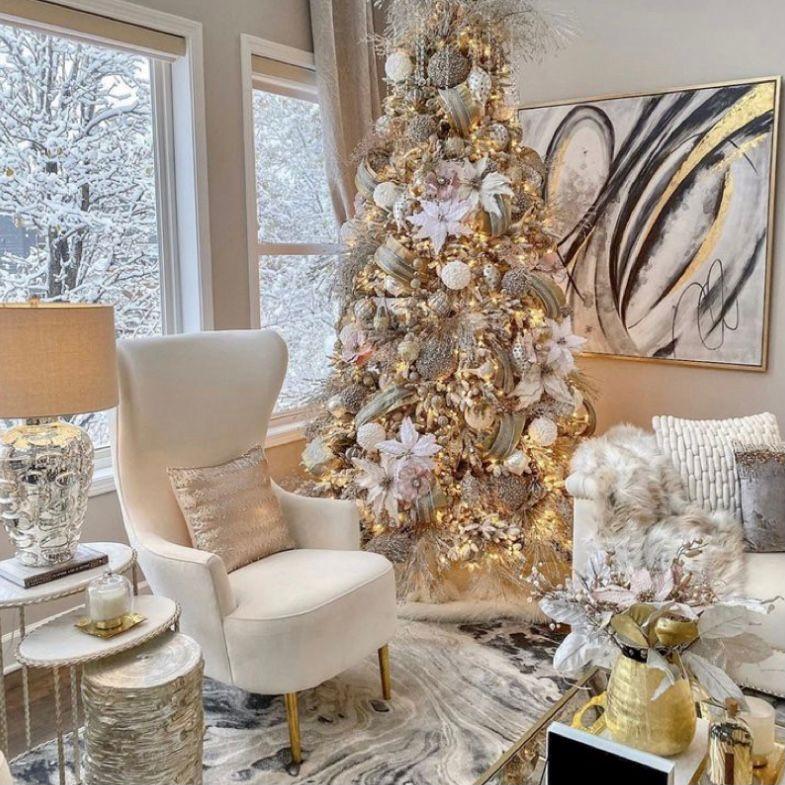 Dekorasi natal mewah dan megah