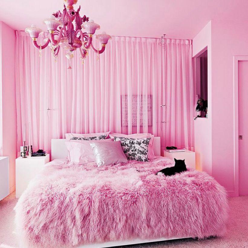 Desain cantik ala kamar Barbie