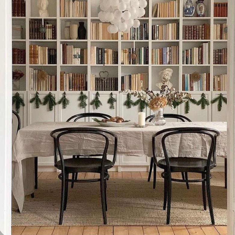 Desain ruang makan yang cocok bagi pecinta buku