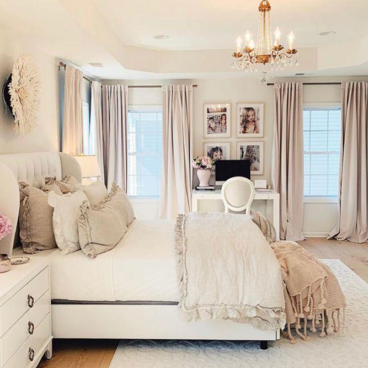 kamar tidur cream mewah