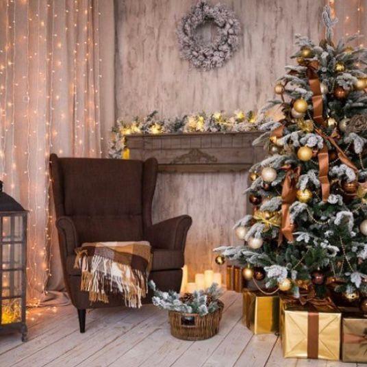 Dekorasi natal yang hangat