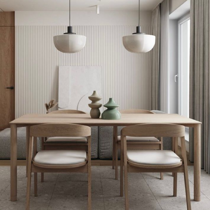 Ruang makan minimalis ala Jepang
