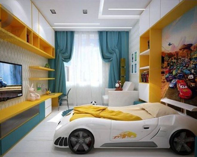 kamar anak tema mobil balap
