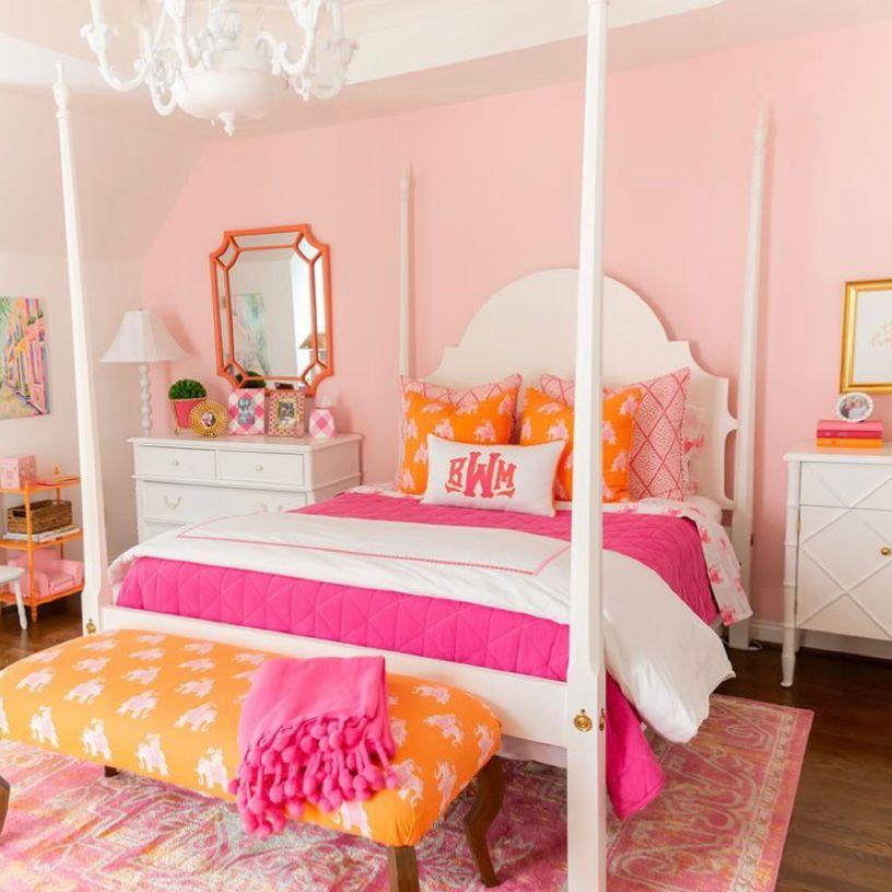 kamar pink segar dan hangat