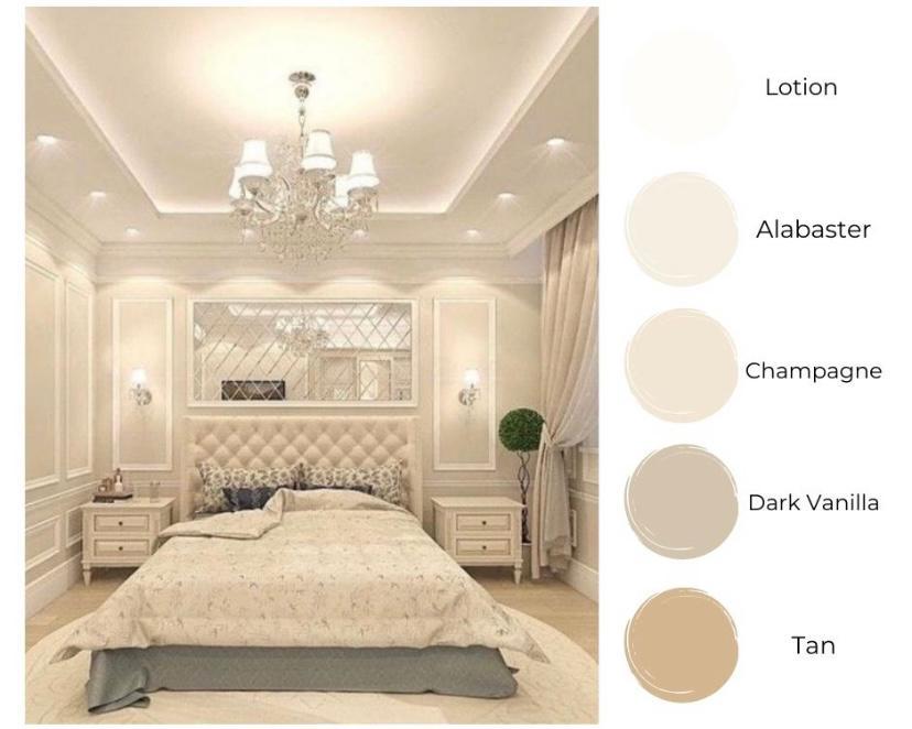 Kamar Luxury White and Cream