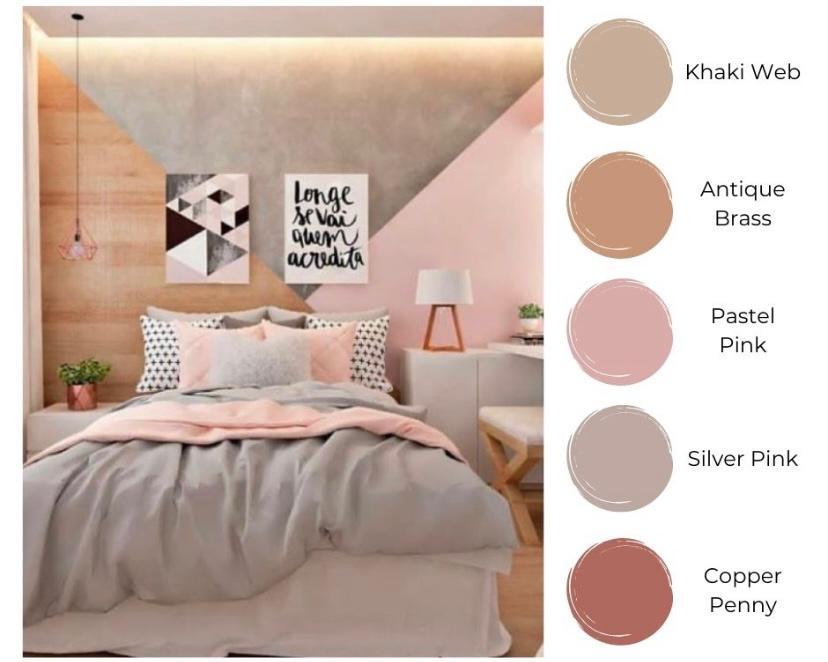 Kamar ala korea dengan bright-warm tone color