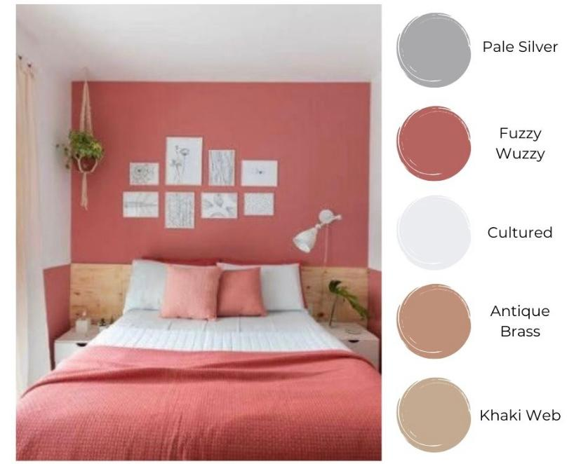 Kamar dengan tema Modern Pinkie-side
