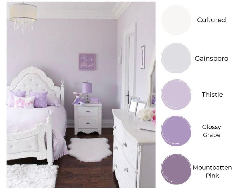 Kamar romantis ala Lilac