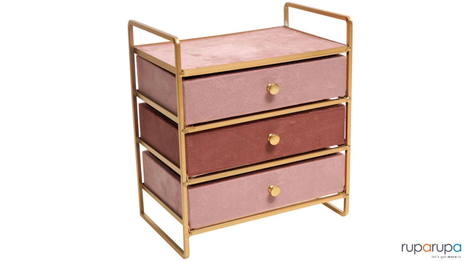 Kotak Perhiasan 3 Laci 21.5x14x24.5cm