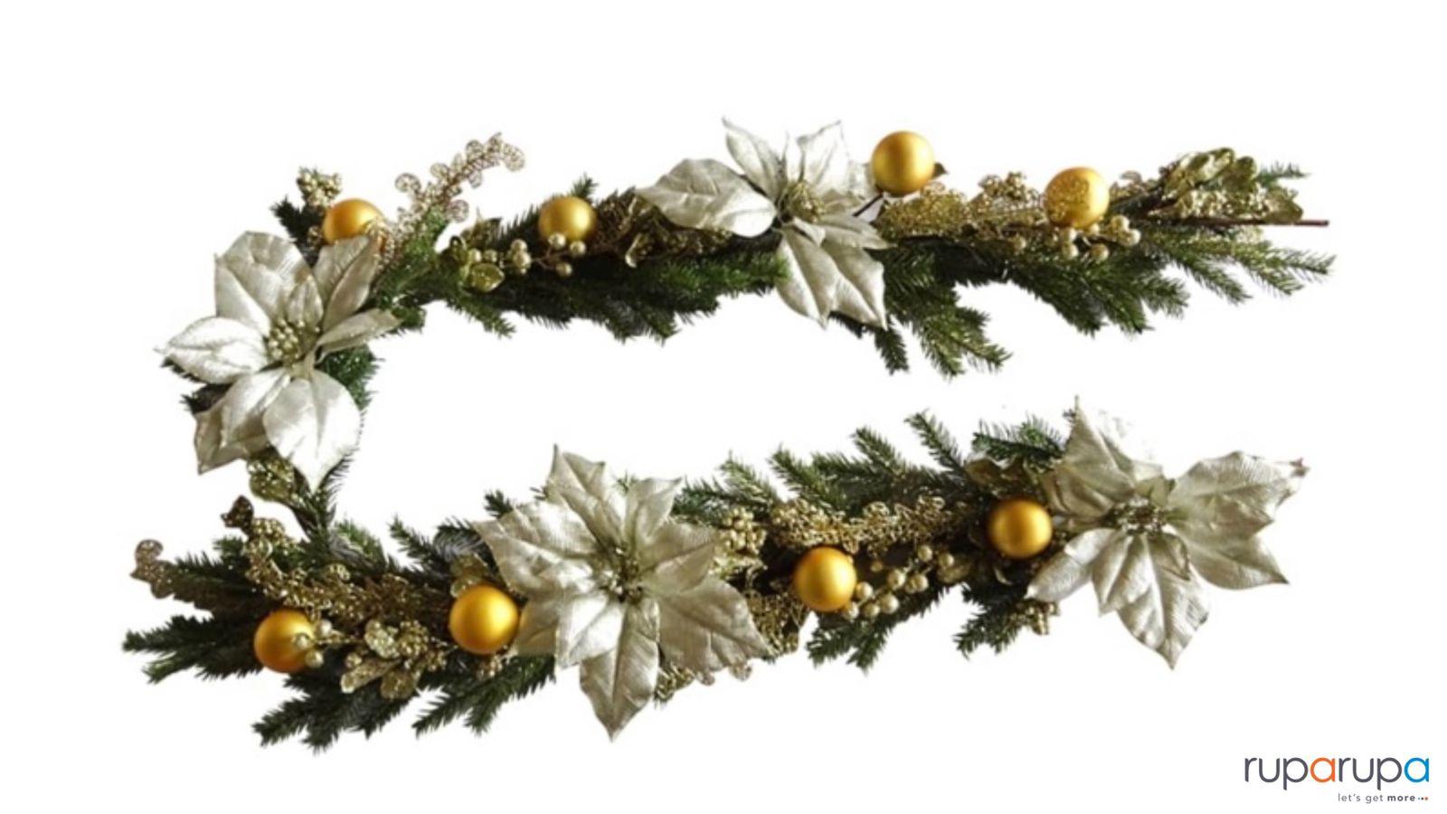 Noelle Garland Poinsettia 180 Cm