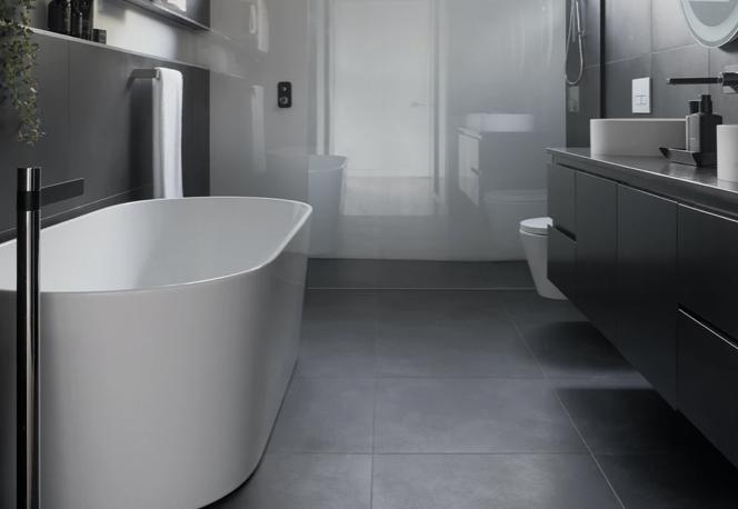 Jenis keramik kamar mandi hexagonal matte