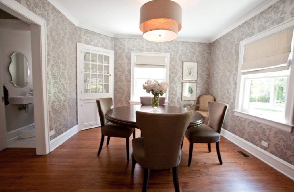 wallpaper dinding ruang makan minimalis