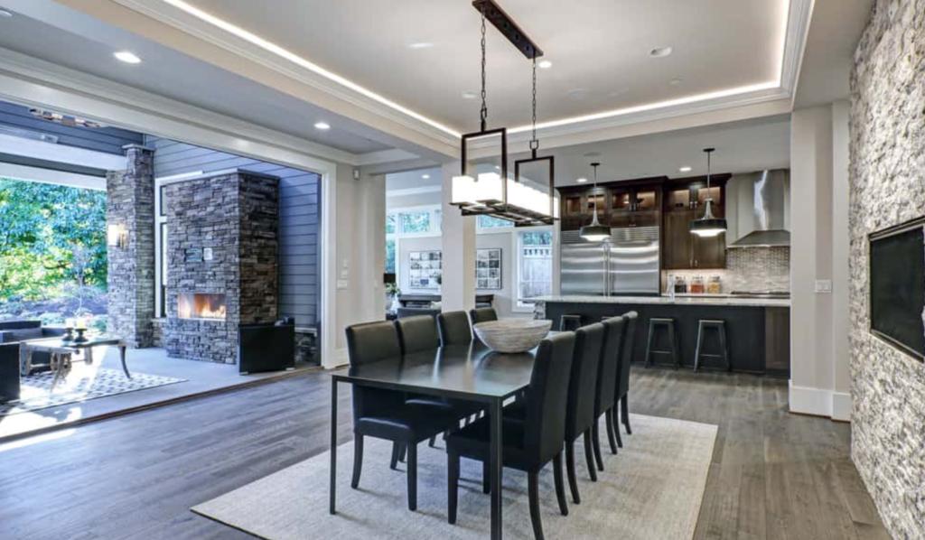 model plafon ruang makan