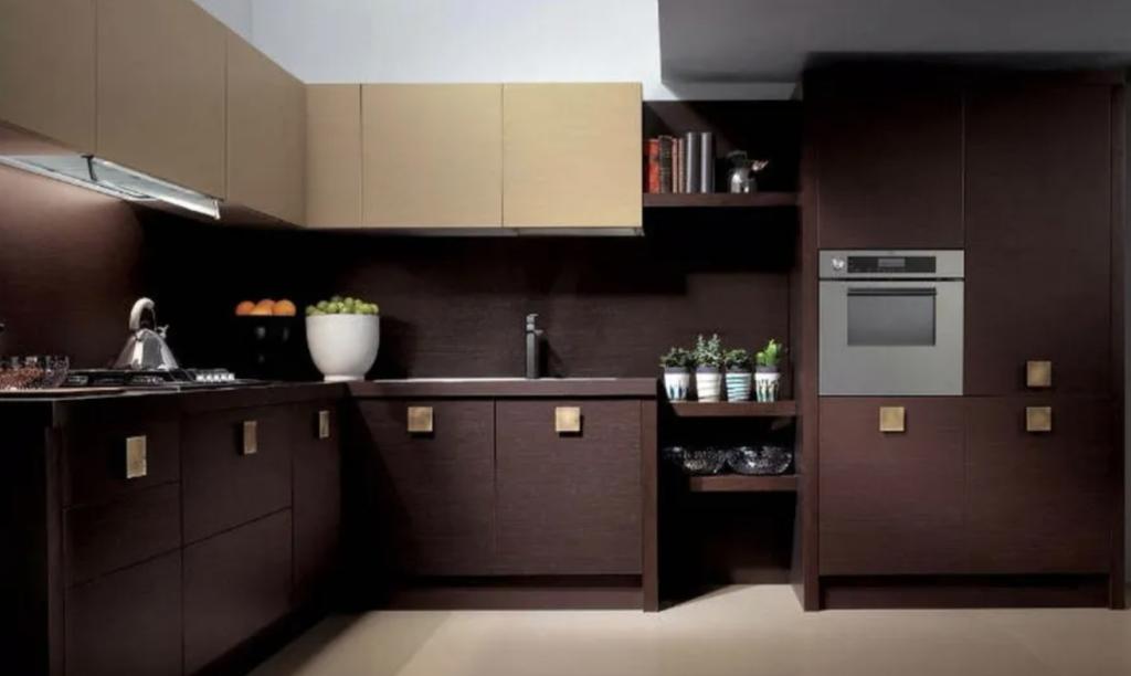 warna cat ruang makan dan dapur coklat