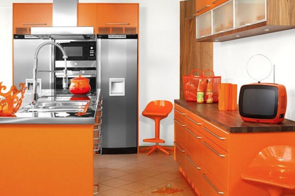 cat dapur oranye