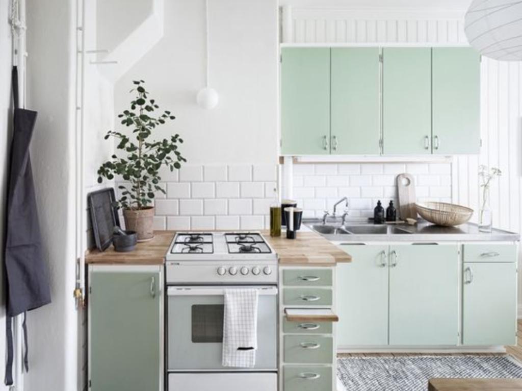 warna cat dapur dan ruang makan mint