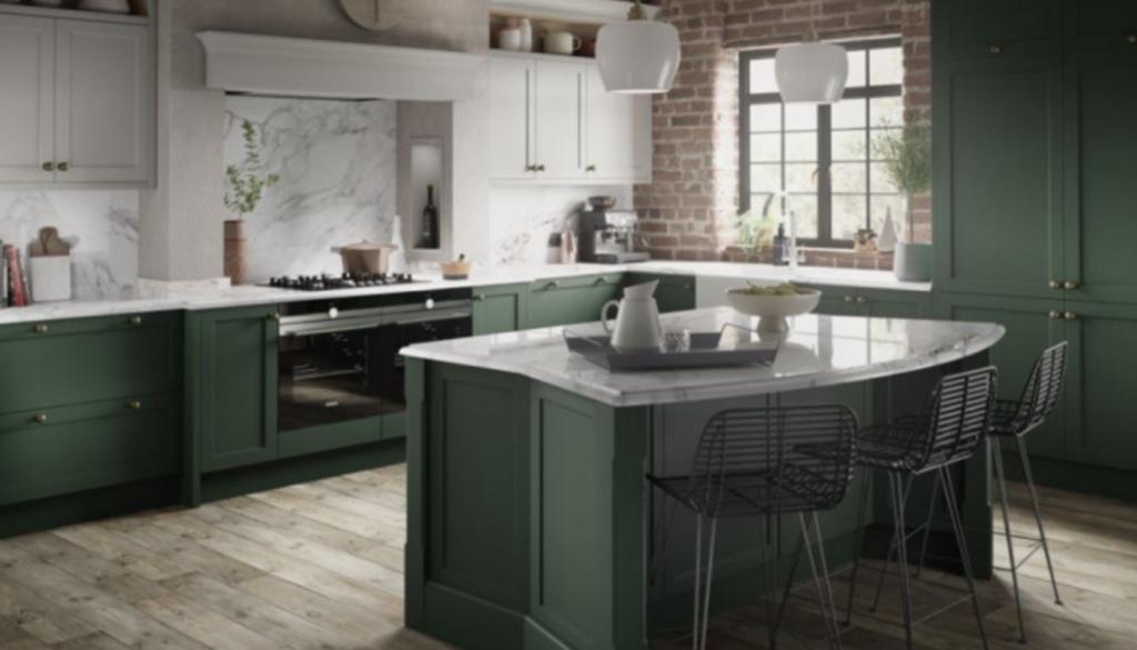 warna cat ruang makan dan dapur hijau abu abu