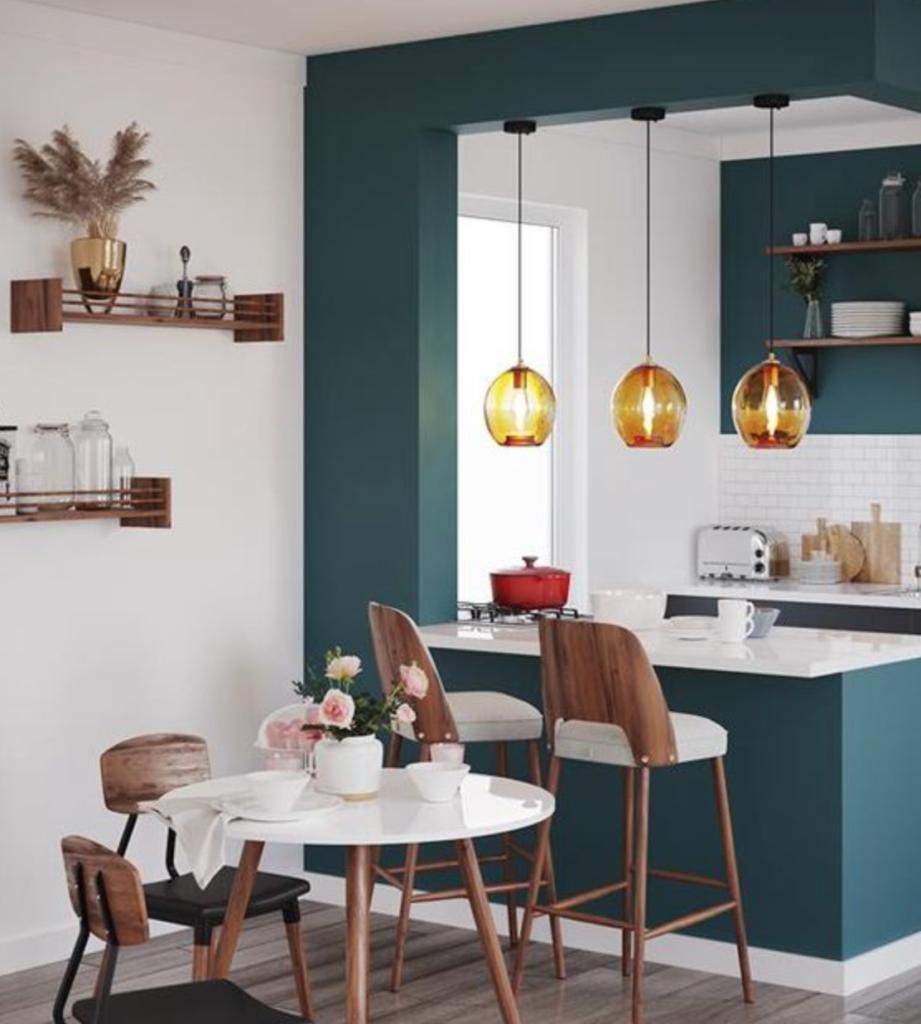 desain dapur dan ruang makan lahan sempit