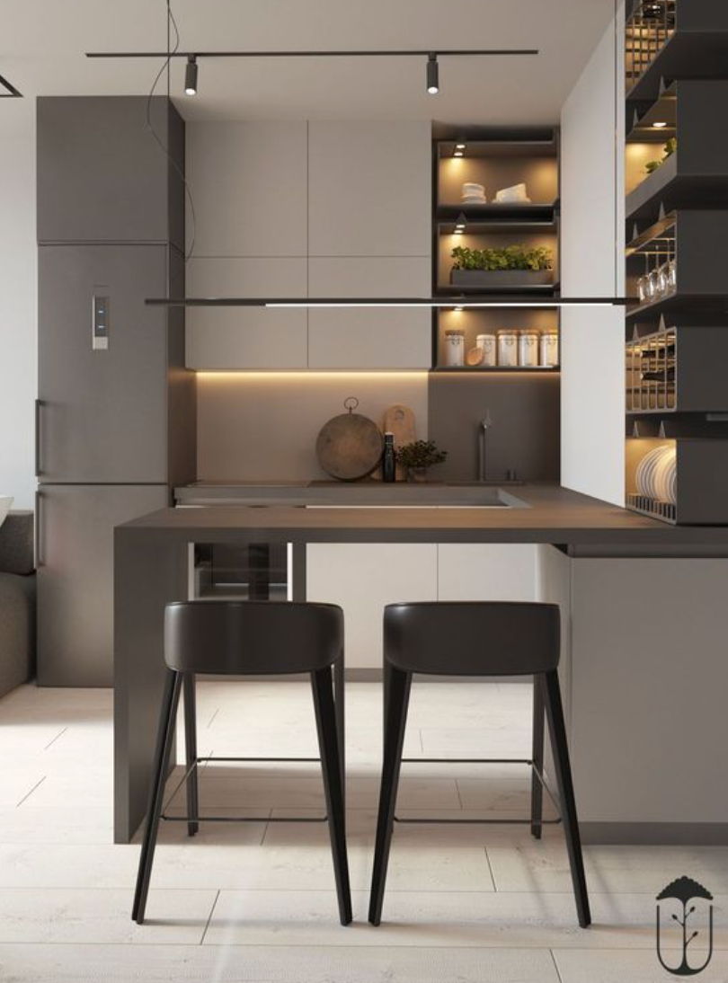 Desain area dapur sempit
