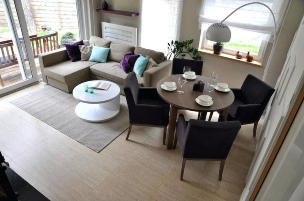 desain ruang keluarga menyatu dengan ruan