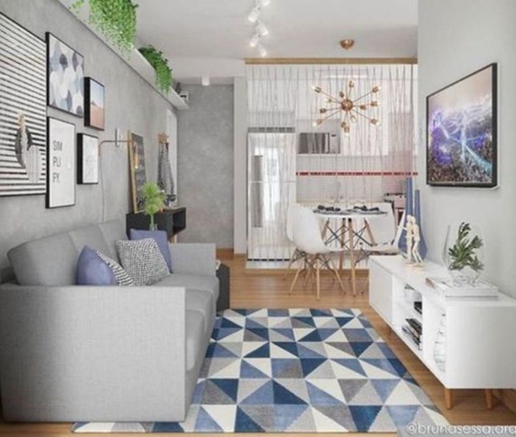 desain ruang keluarga menyatu dengan ruang makan type 36