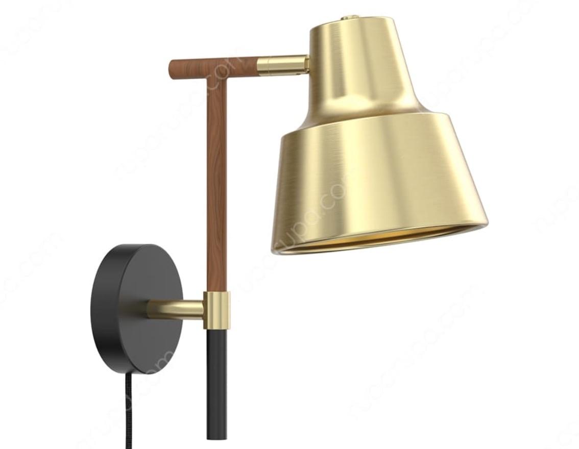 lampu dinding emas