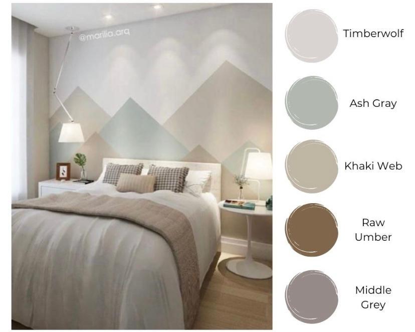 Warna grayscale pastel yang menenangkan