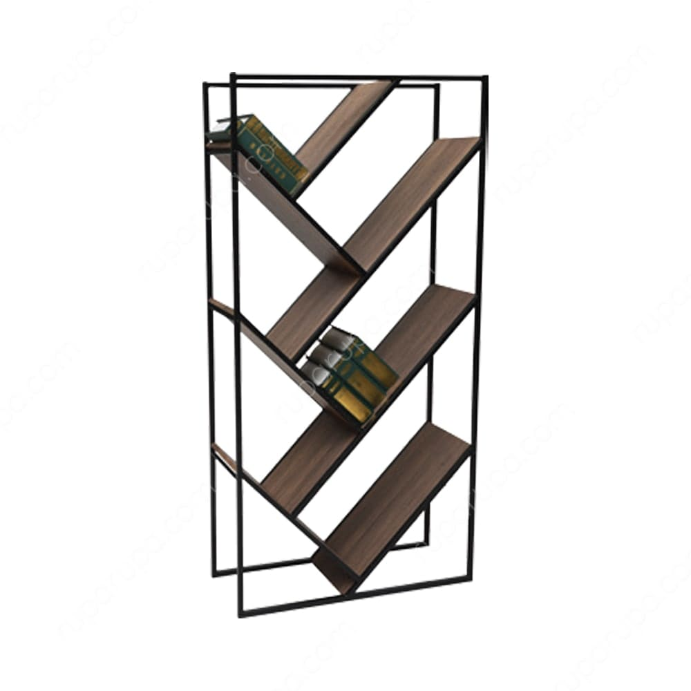 harga lemari ruang tamu minimalis terbaru rak-4-tingkat-cokelat