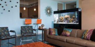 inspirasi aquarium di ruang tamu